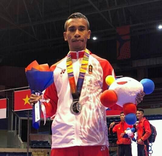SEA Games 2019: Aprilando Rumahpasal Raih Perak Kickboxing