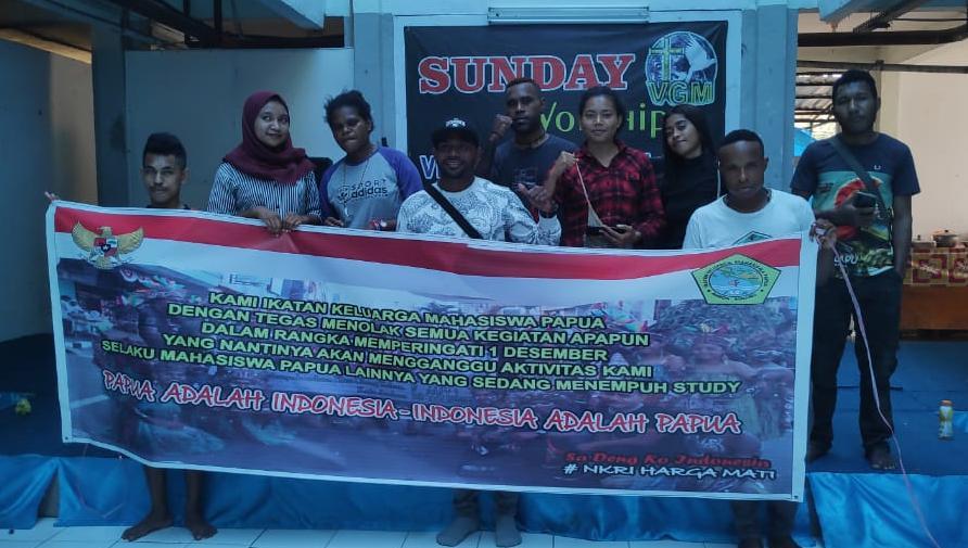 Mahasiswa Papua di Ambon Tolak Aksi 1 Desember