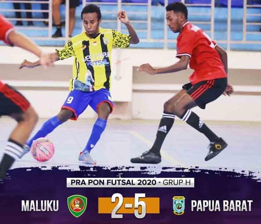 Pra PON Futsal: Papua Barat Tumbangkan Maluku 5-2