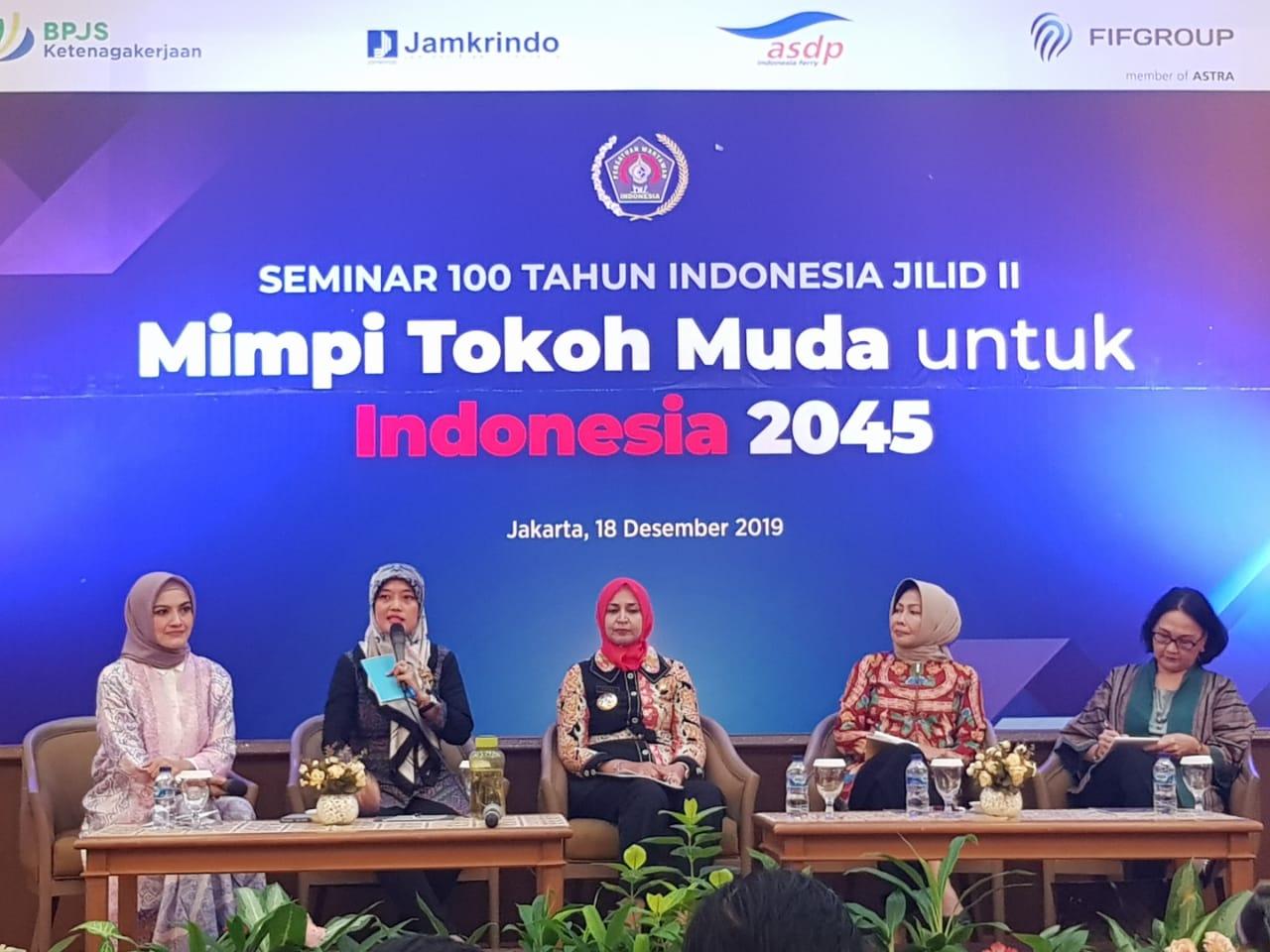 Seminar 100 Tahun Indonesia, PWI Hadirkan Tokoh-tokoh Muda Wanita