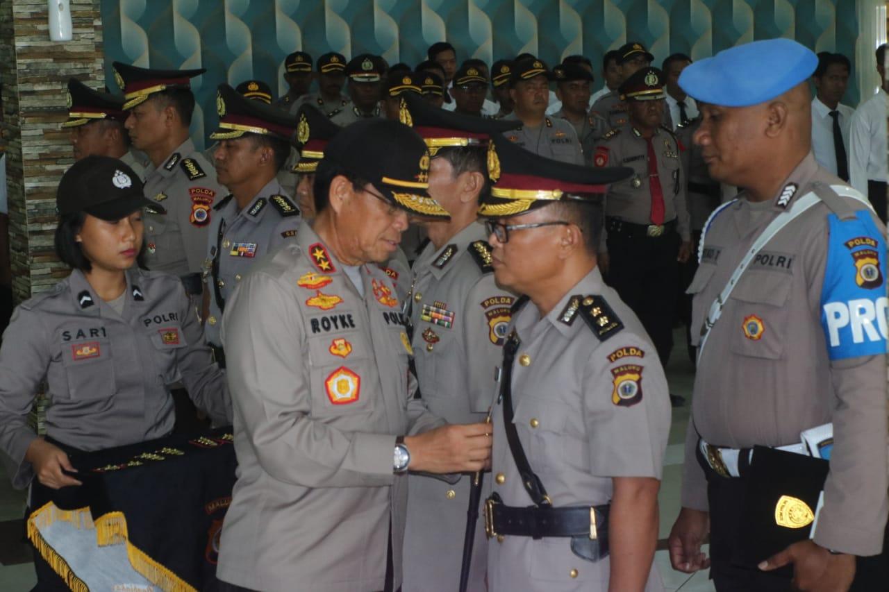 Kapolda Maluku Pimpin Sertijab Pejabat Polda