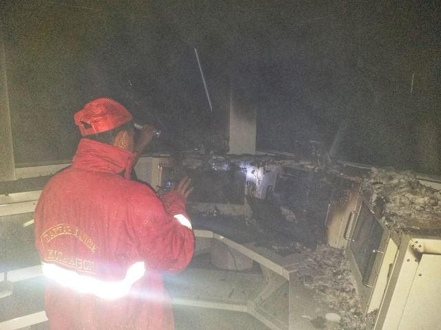 Ruang Stasiun Pemantauan Bakamla Dilalap Api