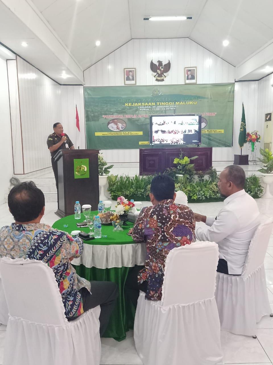 """Kejati Maluku Luncurkan Program """"Sharing Knowledge Online"""""""