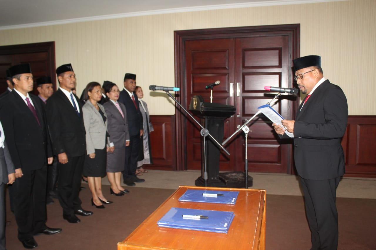 Sejumlah Pejabat Pemprov Maluku Bergeser Posisi