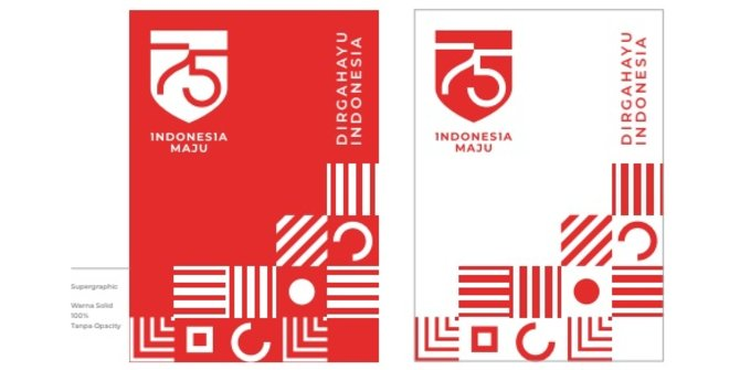 Usung Tema 'Indonesia Maju', Ini Logo HUT Ke-75 RI
