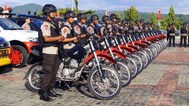 Antisipasi Bencana Alam, Brimob Polda Maluku Gelar Operasi Aman Nusa II