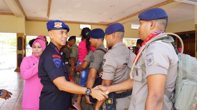 Usai Bertugas di Papua, 99 Personel Brimob Polda Maluku Tiba Kembali di Ambon