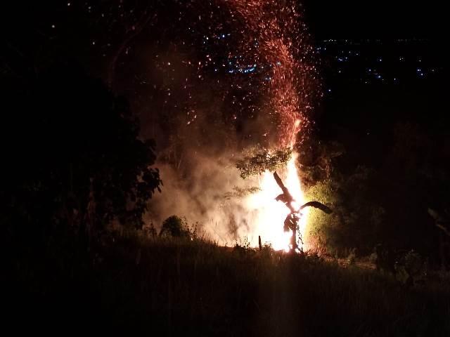 Hutan Dusun Siwang Terbakar