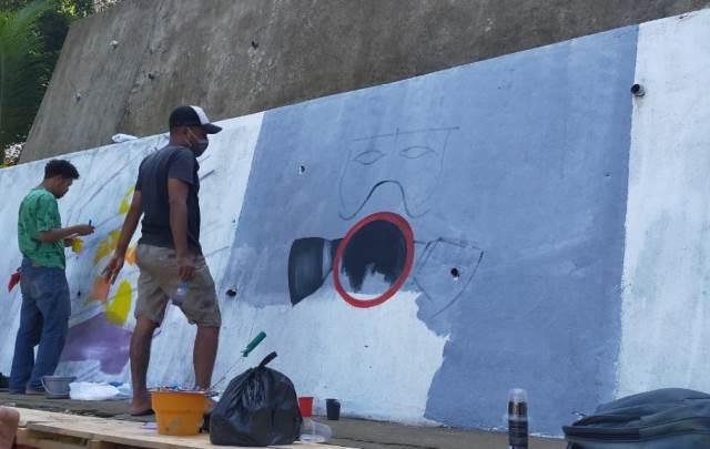 17 Peserta Ikut Lomba Mural HPSN di Ambon
