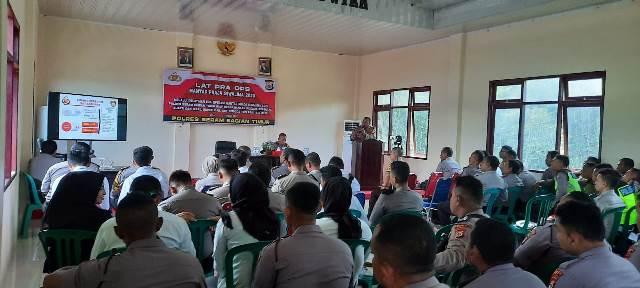 Polres SBT Gelar Latihan Pra Operasi Mantap Praja Siwalima