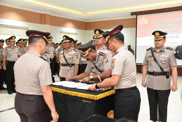 Kapolda Maluku Pimpin Sertijab Direskrimsus, Dirlantas & 3 Kapolres