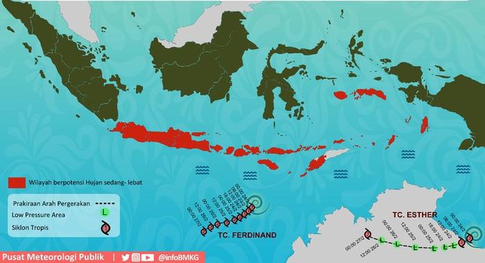 Dua Siklon Tropis Muncul Bikin Intensitas Hujan Makin Tinggi