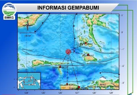 Gempa Bumi Tektonik M 5,0 Guncang Halsel
