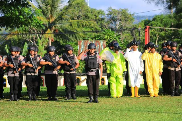 Brimob Polda Maluku Siaga Operasi Aman Nusa ll