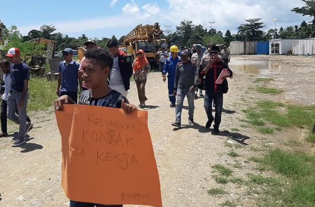 Pemuda Bula Demo Perusahaan Migas Citic