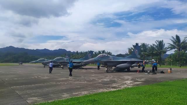 TNI AU Kerahkan Pesawat Tempur F-16 ke Ambon