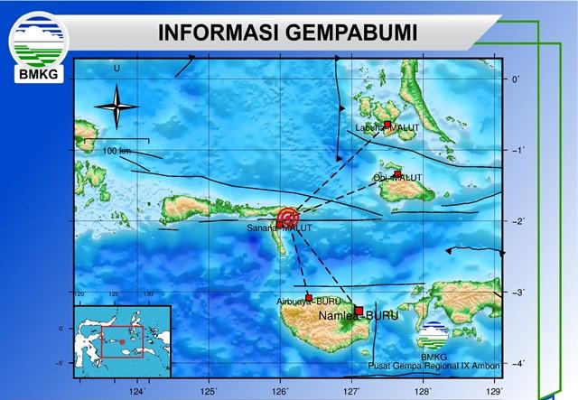Gempa Bumi Tektonik M 3,4 Guncang Sanana