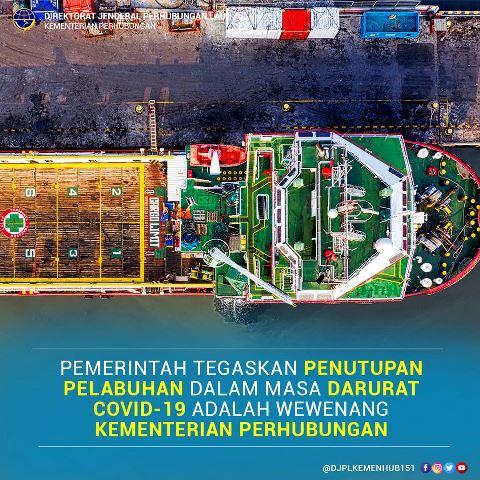 Penutupan Pelabuhan Harus Seizin Kemenhub