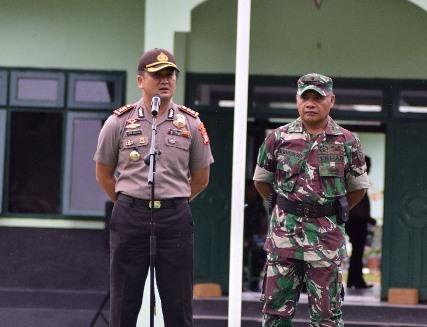 Kapolres SBT Pimpin Apel Perdana Sinergitas TNI Polri