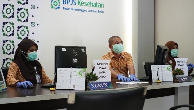 Cegah Covid-19, Pengunjung BPJS Kesehatan Ambon Wajib Gunakan Masker