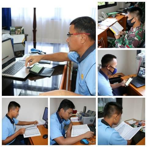 Personel Lanud Pattimura Tadarus Alquran Secara Online