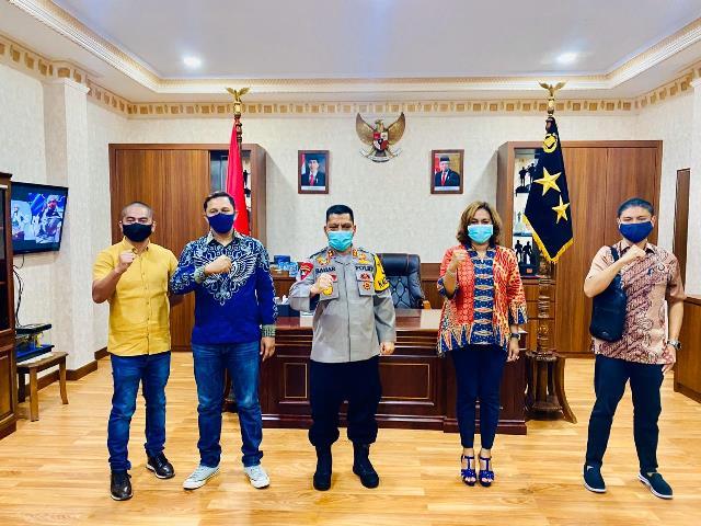 Kapolda Maluku Ajak HIPMI Peduli Sosial Covid-19
