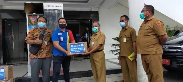 Pemkot Ambon Dapat Bantuan 1.620 Masker Dari Indomaret
