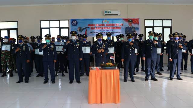 Peringatan HUT ke-74 TNI AU di Lanud Pattimura Digelar Sederhana