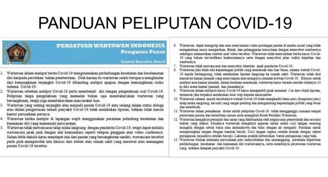 PWI Pusat Keluarkan Panduan Peliputan Berita Covid-19
