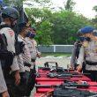 Hadapi Covid-19, Brimob Polda Maluku Gelar Pasukan
