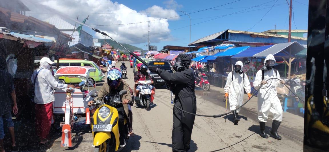 Brimob Sterilisasi Terminal & Pasar Di Ambon