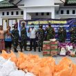 Lantamal Ambon Salurkan Bantuan Sembako