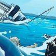 KM Cahaya Damai Tenggelam, 3 Nelayan Terdampar Di Tial