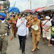 PSBB Transisi Dimulai, Wali Kota Ambon Tinjau Pasar