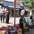 Adaptasi Kebiasaan Baru, Brimob Maluku Sosialisasi Di Pasar