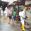 Brimob Maluku Sterilkan Terminal & Pasar Mardika