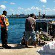 Tanggap Bencana, Brimob Patroli Di Pelabuhan Saumlaki