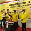 Musda Golkar Ambon Dimulai, Ini Harapan Ketua DPD Provinsi Maluku