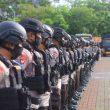 Jaga Keamanan, Brimob Maluku Gelar Pasukan