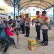 Sambangi Pasar Jargaria, Brimob Maluku Ajak Warga Patuhi Protokol Kesehatan