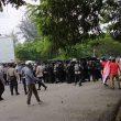 Hujan Batu Warnai Demo Mahasiswa Unpatti Tolak UU Cipta Kerja