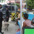 Brimob Maluku Patroli Pendisiplinan Protokol Kesehatan