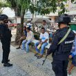Brimob Maluku Patroli Sambil Edukasi Protokol Kesehatan Di Masohi