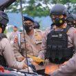 Brimob Maluku Gelar Pasukan & Peralatan