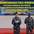 Menuju WBK & WBBM, Lantamal Ambon Teken Pakta Integritas
