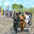 Danrem Binaiya Tinjau Lahan Pembangunan Koramil di Pulau Manipa