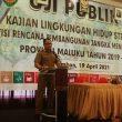 Uji Publik Tahap II KLHS Revisi RPJMD Maluku Mulai Digelar