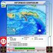 Gempa M 3,5 Terjadi di Wilayah Laut Banda