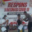 261 Warga Divaksinasi di Gerai Presisi Polda Maluku