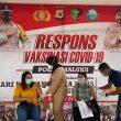 Serbuan Vaksinasi Polda Maluku: 740 Warga Divaksin